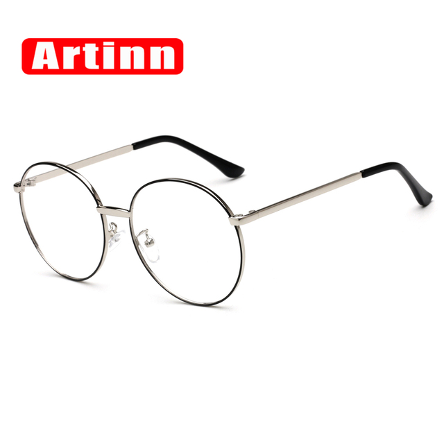 b1b4d5f39fe Brand Designer Vintage Prescription Optical Glasses Frame Oversized Retro  Circle Round Men Women Eyewear Old Fashion