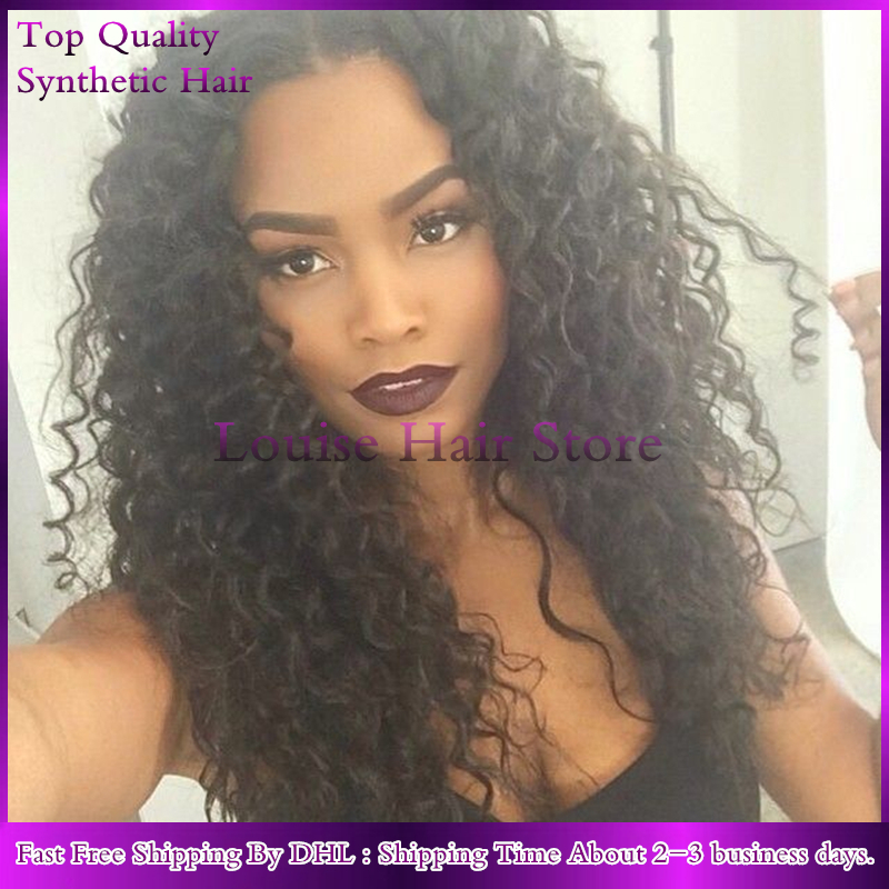 Sexy Black Women Japan Hair Braiding Synthetic Lace Front Wig Heat