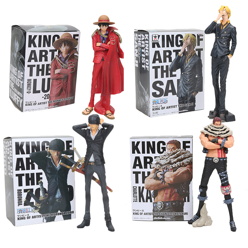 One Piece Action Figure Luffy Sanji Zoro Charlotte Katakuri Chopper Usopp King Of Artist KOA PVC Figure Model Toy