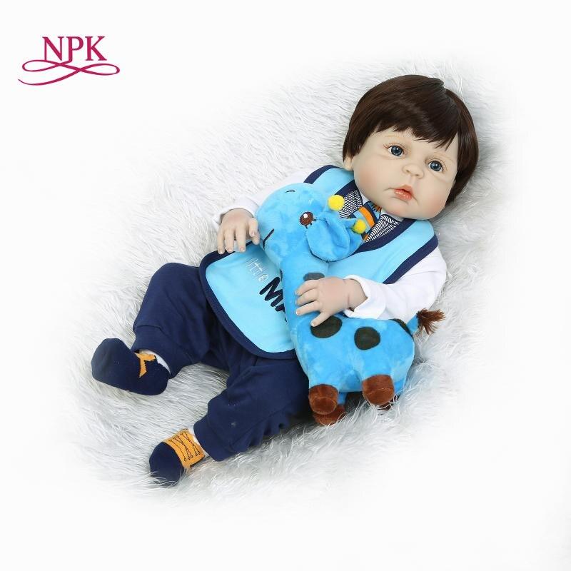 NPK reborn doll with soft real gentle touch full vinyl BOY doll lifelike newborn baby children Christmas gift for kids