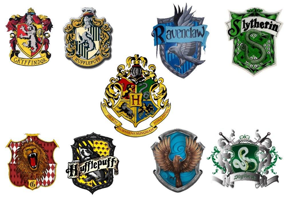 9 harry poter house logo hogwarts gryffindor hufflepuff