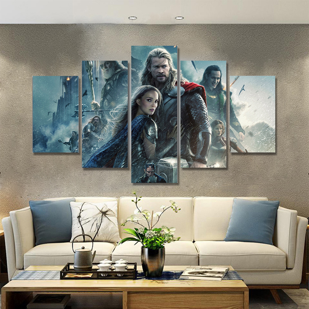 Unframed HD Canvas Prints Thor Poster Giclee Wall Decor Prints Wall Pictures For Living Room Wall Art Decoration Dropshipping