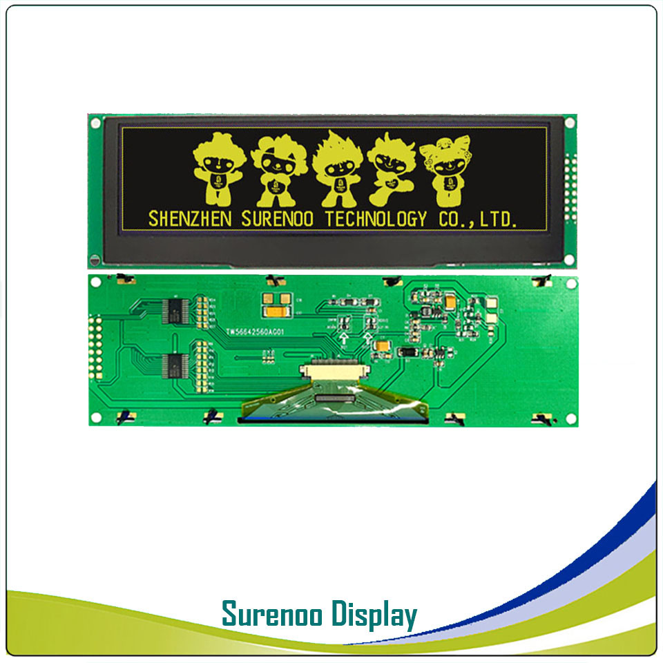 """Image 2 - Real OLED Display, 5.5"""" 256*64 25664 Graphic LCD Module Display Screen LCM Screen Build in SSD1322, 6080 8080 Parallel Seral SPI-in LCD Modules from Electronic Components & Supplies"""
