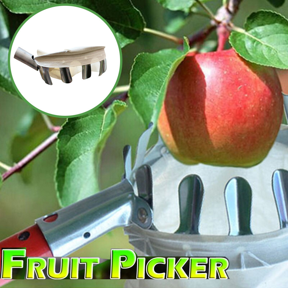 Outdoor Fruit Picker Without Pole Apple Orange Peach Pear Practical Gardening Picking Tool Bag Fruit Catcher#T2