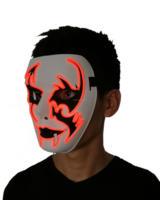Оптовая продажа 10 шт. светодиодный маски десять Цвета выберите маскарад маска звуковая активация el маска для свадьбы Хэллоуин вечерние укр