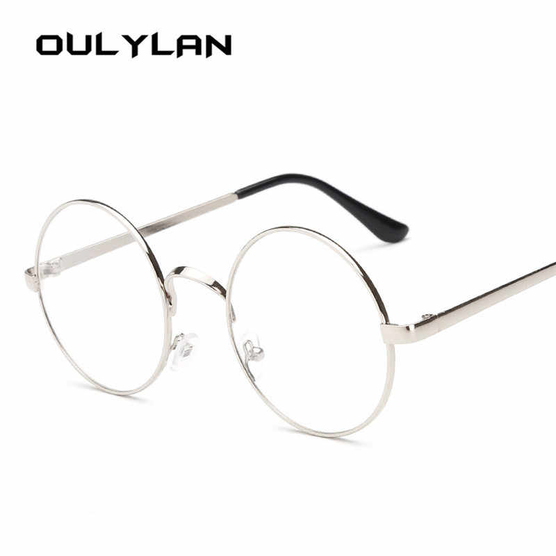65b28b27ee ... Oulylan Round Spectacle Glasses Frames for Men Harry Potter Glasses  With Clear Glass Women Myopia Optical ...