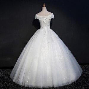 Image 3 - Fansmile foto Real de encaje de lujo vestidos de boda de bola 2020 personalizado de talla grande Vintage Vestido de novia FSM 075F