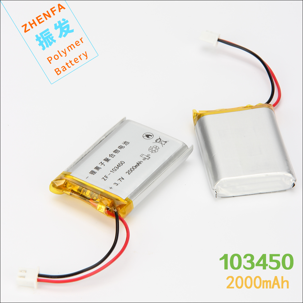 3.7V 2000mAh 103450 lithium polymer battery For GPS PSP Power Bank Tablet PC speaker small pudding Rechargeable Li-ion Battery