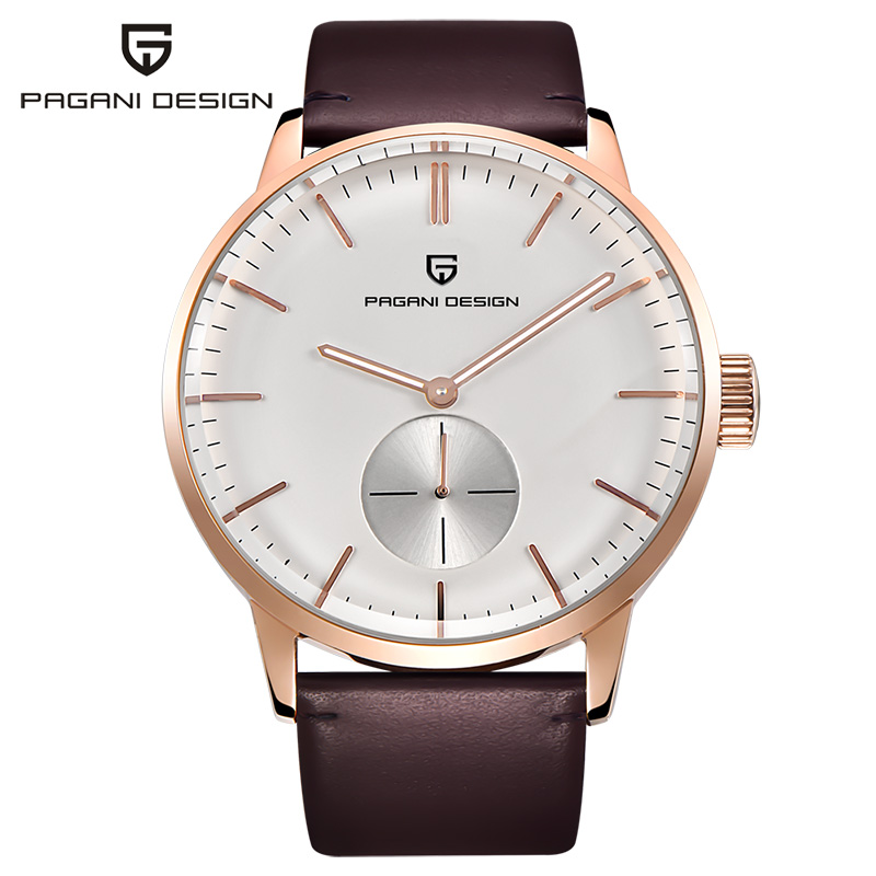 PAGAIN Design Luxury Brand Clock Men Leather Strap Simple Fashion Casual Business Quartz Wrist Watches For man Relogio Masculino 2017 men xinge brand business simple quartz watches luxury casual leather strap clock dress male vintage style watch xg1087