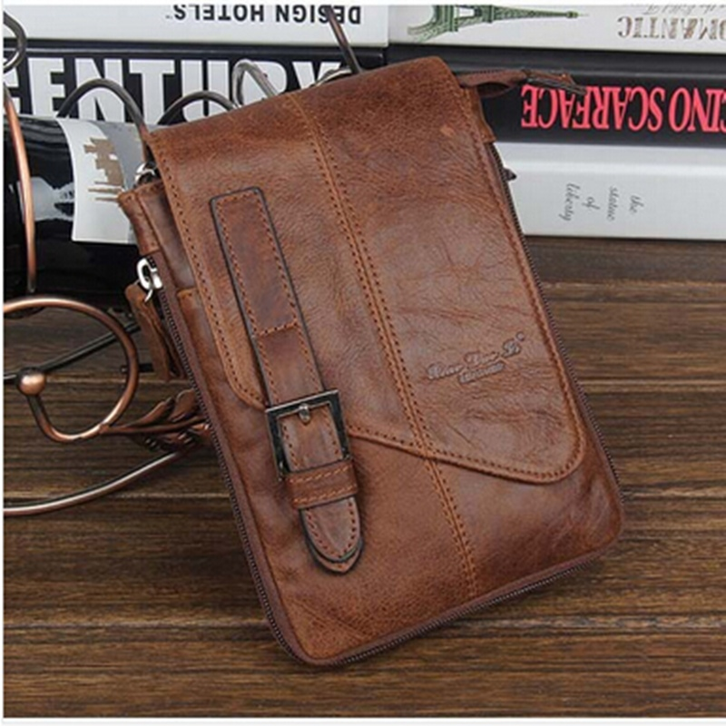 2015 Leather Leg Bag Men Shoulder Leg Bag Small Man Messenger Bags ...