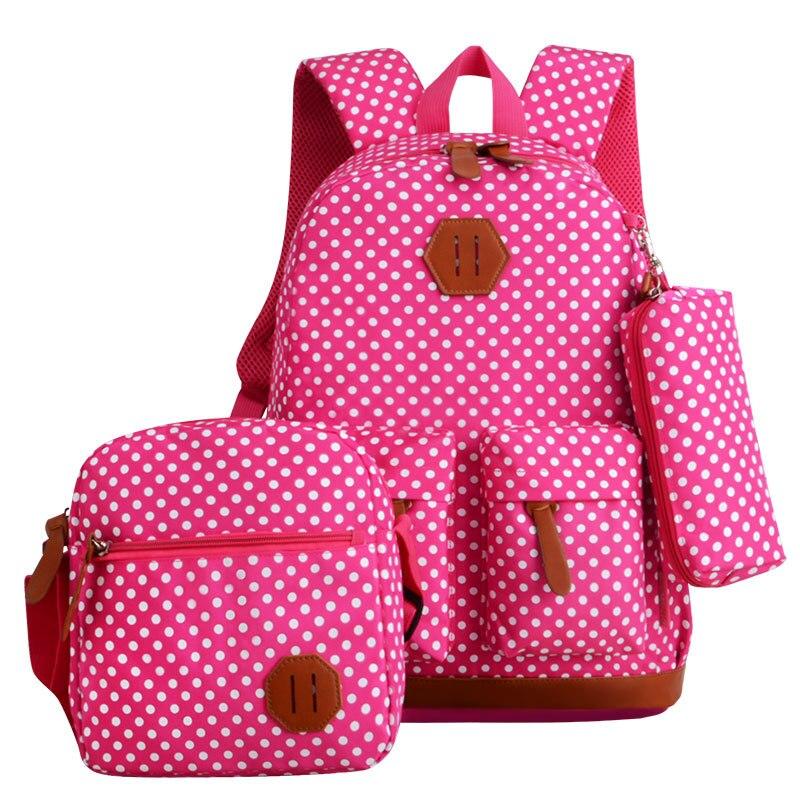 Стильный Нейлон печати рюкзак Для женщин школьные сумки подростков милые комплект Рюкзаки моды школьный женский рюкзак для ноутбука Mochila