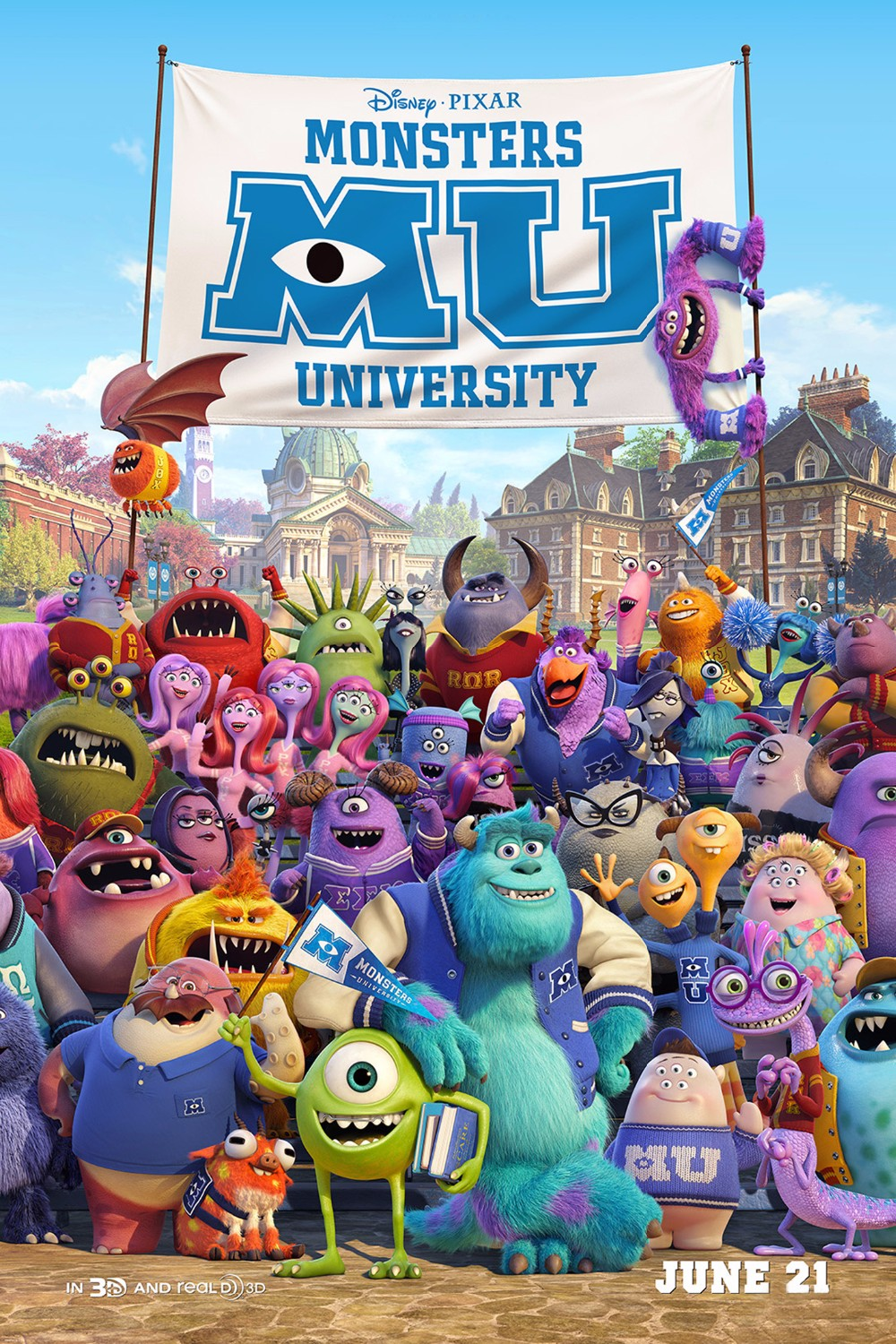 2015 Pixar Cartoon Monsters University Movie Posters And Prints Canvas Wall Pictures For Kids Living Room Of 4 Size In Painting Calligraphy From Home