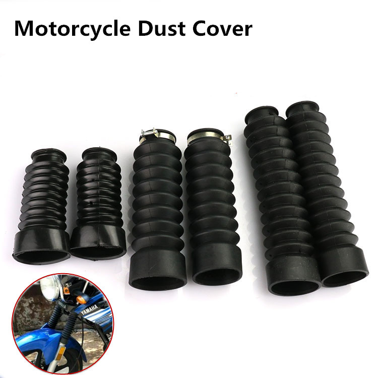 A Pair Dust Cover Motorcycle Off-road Front Rubber Fork Dirt Dust Cover Motorcycle Fork Rubber Gaiters Boots Protective Sleeve 49mm protector dust guard motorcycle front rubber fork dirt cover gaiter gator boot cap shock for harley dyna fat bob 2008 2016