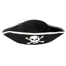 Tri Corner Pirate Hat - Three Cornered Buccaneer Costume Accessory Hat New Arrival