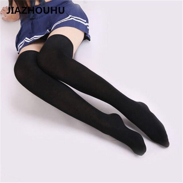 Japanese Brand Striped Over The Knee Socks High School -9509
