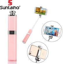 Помада Bluetooth/Беспроводной палка для селфи монопод для Iphone 7/7 плюс для iPhone 6 6S IOS для Samsung моды самостоятельно палочки self-Полюс
