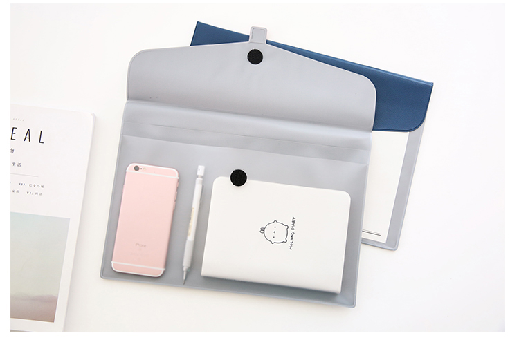 A4 transparent document envelope, waterproof contract file bag simple design thesocial contract