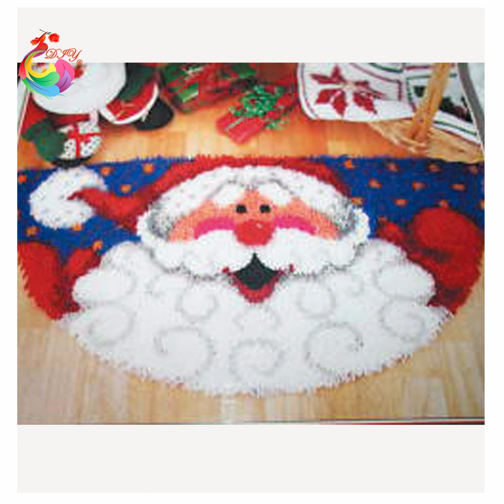 New Year decoration Santa knitting needles Latch hook rug kits tool kit in a suitcase carpets and rugs stair carpet mats