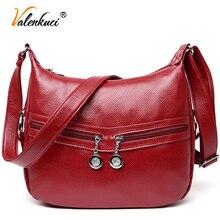 Valenkuci famosa marca bolsos de los bolsos de hombro mujeres bolsa de mensajero bolso crossbody de las mujeres bolsos de cuero de alta quanlity SD-629