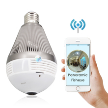 CTVMAN Mini Security 360 Camera Wifi H.264 CCTV Hd Interno Lamp with Cameras Fisheye Panoramic 960P 1080P 3MP 5MP Bulb IP Cam