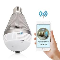 CTVMAN Mini Security 360 kamera Wifi H.264 CCTV Hd lampa Interno z kamerami rybie oko panorama 960P 1080P 3MP 5MP żarówka kamera ip w Kamery nadzoru od Bezpieczeństwo i ochrona na