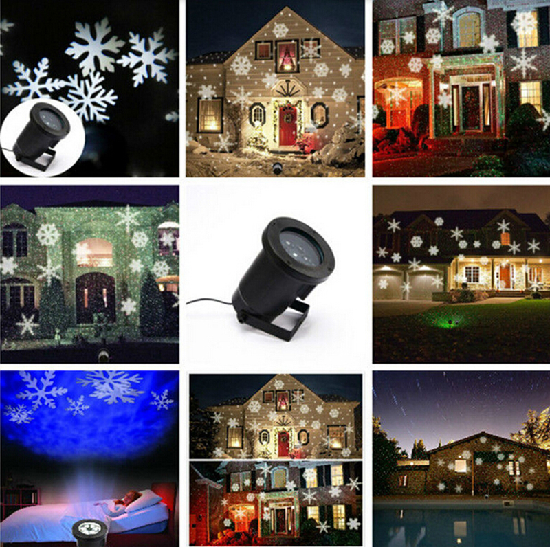 Great DHL Free 2pcs Hot Sale Snowflake Outdoor Lights, White Led Projector  Snowflake, Moving Pattern