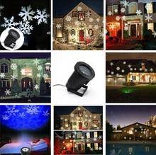 Бесплатная доставка горячая распродажа снежинка наружное освещение, Красный-зеленый-синий белый лазерный проектор снежинка, Перемещение узор снежинки проектор