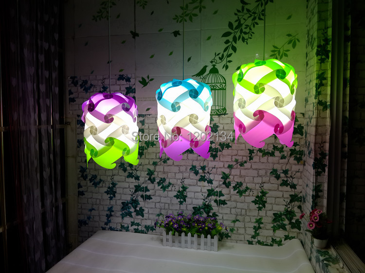 wholesale free shipping IQ puzzle l& iq jigsaw light Medium size with cord/E27 cable 9 color white green purple red for choice-in Pendant Lights from ... & wholesale free shipping IQ puzzle lamp iq jigsaw light Medium size ...