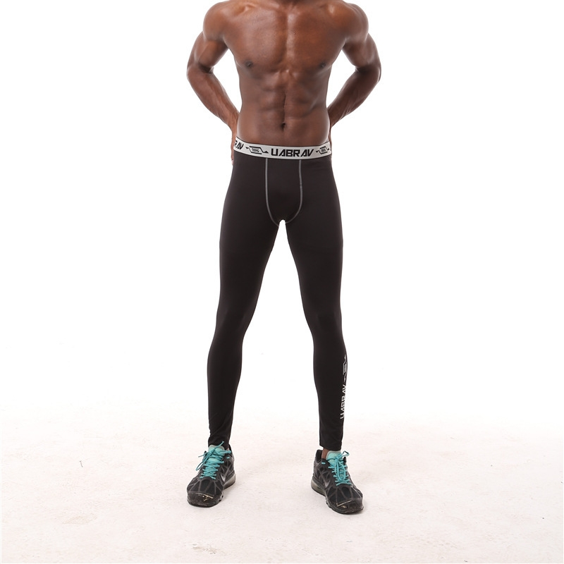 DZ 16012 Men Tight trousers stretch pants Compression pants male gym fitness training running Outdoor Basketball