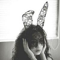 Lady Gaga Kant Konijnenoren Sluier Haarbanden Kant Masker Kerst Halloween Party Dance Masker Wit/zwart FREESHIPPING
