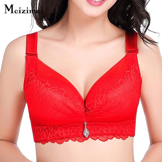 8ddf952cf5583 Women ultra boost sexy bh lingerie brassiere female push up lace bralette  bras big size mesh bra underwear intimates hot X0809