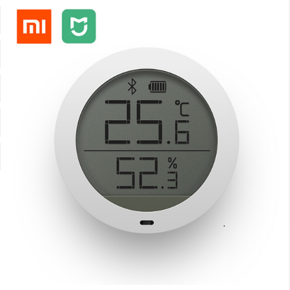 Original Xiaomi Mijia Bluetooth Temperature Smart Humidity Sensor LCD Screen Digital Thermometer Moisture Meter Mi Home APP цена 2017