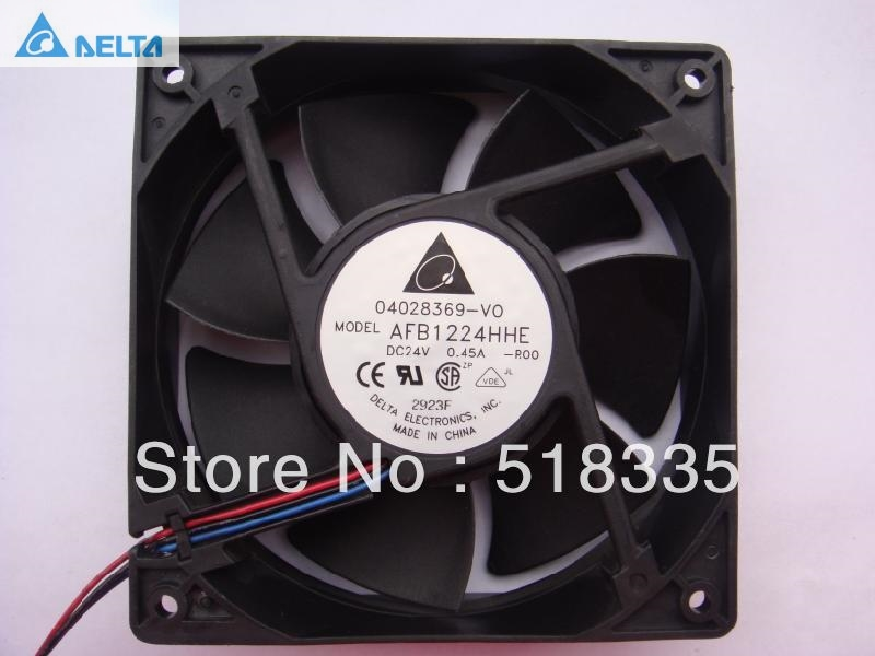 Delta AFB1224HHE 12CM 120MM 1238 12038 120*120*38MM 24V 0.45A  cooling fan computer water cooling fan delta pfc1212de 12038 12v 3a 12cm strong breeze big air volume violent fan