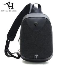 ARCTIC HUNTER Unisex Anti Thief Chest Pack 2018 New Messenger Bags Women Mens School Bag Shoulder Crossbody with USB Port