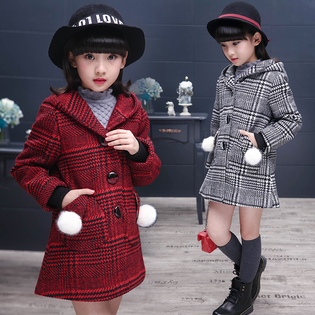 Kids Jacket Outerwear Children's Autumn Coat Fashion Coat Girl's Outfits Baby Jacket Windbreaker for Girls Kids Wool Coat B438