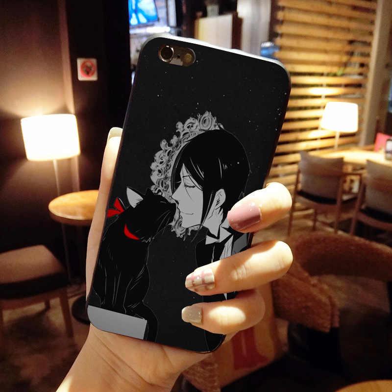 Preto Anime Japonês Butler Kuroshitsuji MaiYaCa design Caso Telefone Padrão para Apple iPhone 8 7 6 6 S Plus X XS XR XSMax 5 5S SE