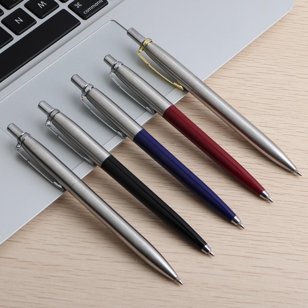 Офисная ручка Коммерческая металлическая Подарочная шариковая ручка канцелярские стержни solventborne автоматические шариковые ручки для школы офиса 0,7 мм заправки