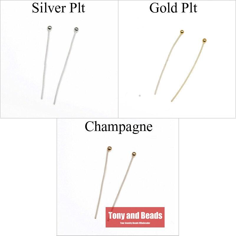 (300 Stücke = 1 Los!) Kostenloser Versand Schmuck Halskette Ohrring Finden Kupfer Kugelkopf Pins 20 Mm Gold Silber Und Champagne Überzog Ew21 Hoher Standard In QualitäT Und Hygiene