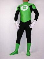 الأخضر فانوس العدالة تأثيري زي دنة هالوين تأثيري خارقة حار بيع zentai البدلة
