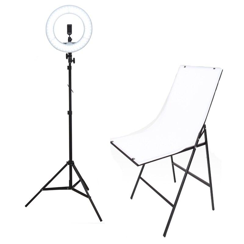 Фото стол и 240LED фотографическое освещение камера с регулируемой яркостью фото студия софтбокс телефон видео фотографии кольцо света м 2 м ш
