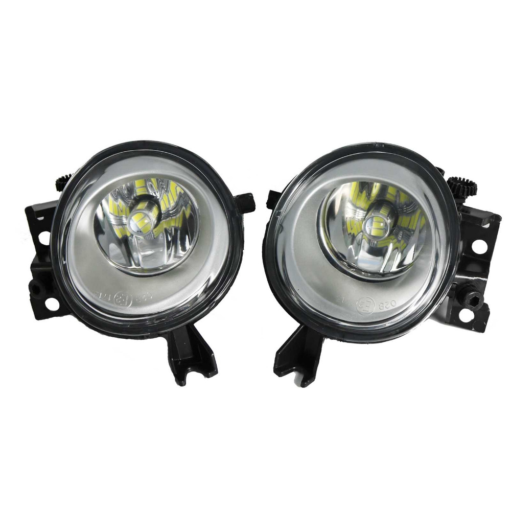 Car Styling LED Light For VW Touareg 2003 2004 2005 2006 2007 LED Front Bumper Fog Lamp Fog Light With Bulb front bumper fog lamp grille led convex lens fog light angel eyes for vw polo 2001 2002 2003 2004 2005 drl car accessory p364