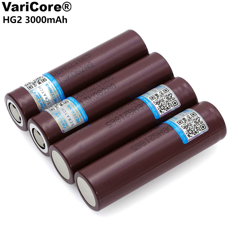 VariCore Original HG2 18650 3000mAh Rechargeable Battery 18650HG2 3.6V Discharge 20A Dedicated Power Battery