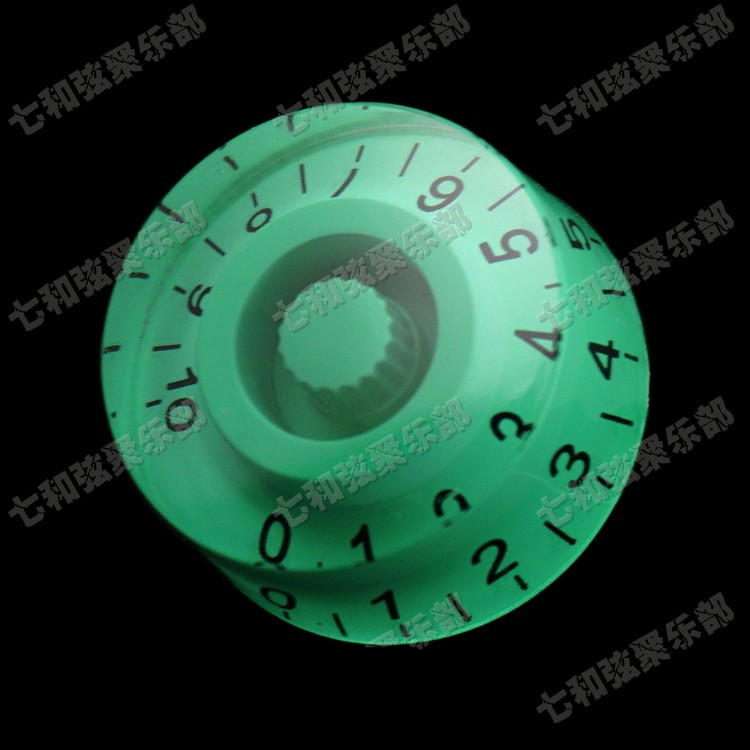 Verde tapa potenciómetro tapa de pomo de la Guitarra Partes de guitarra Eléctric
