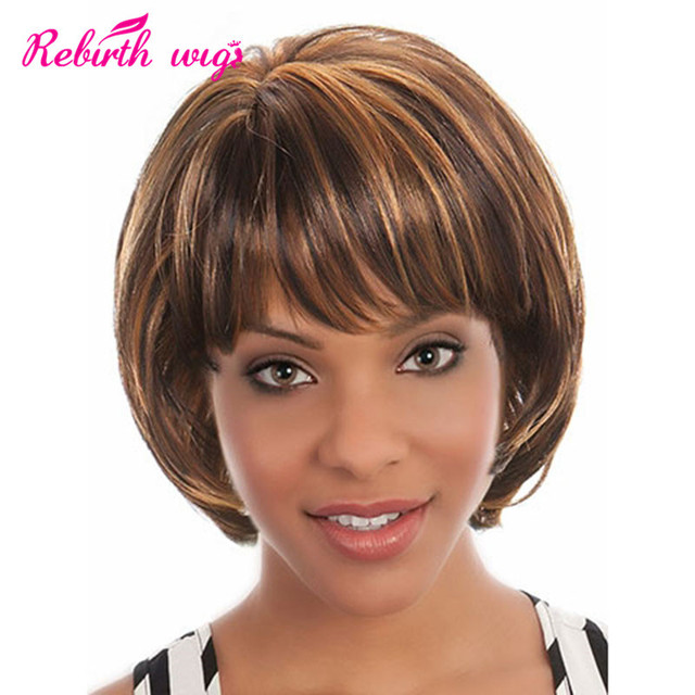 Women S Wig Fashion Short Synthetic Hair Wig For Black Women Blonde