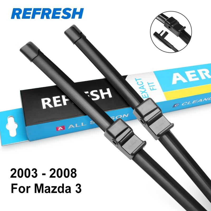 REFRESH Щетки стеклоочистителя для модели Mazda 3 Europe Fit Side Pin / Hook Arms Модельный год с 2003 по год - Цвет: 2003 - 2008