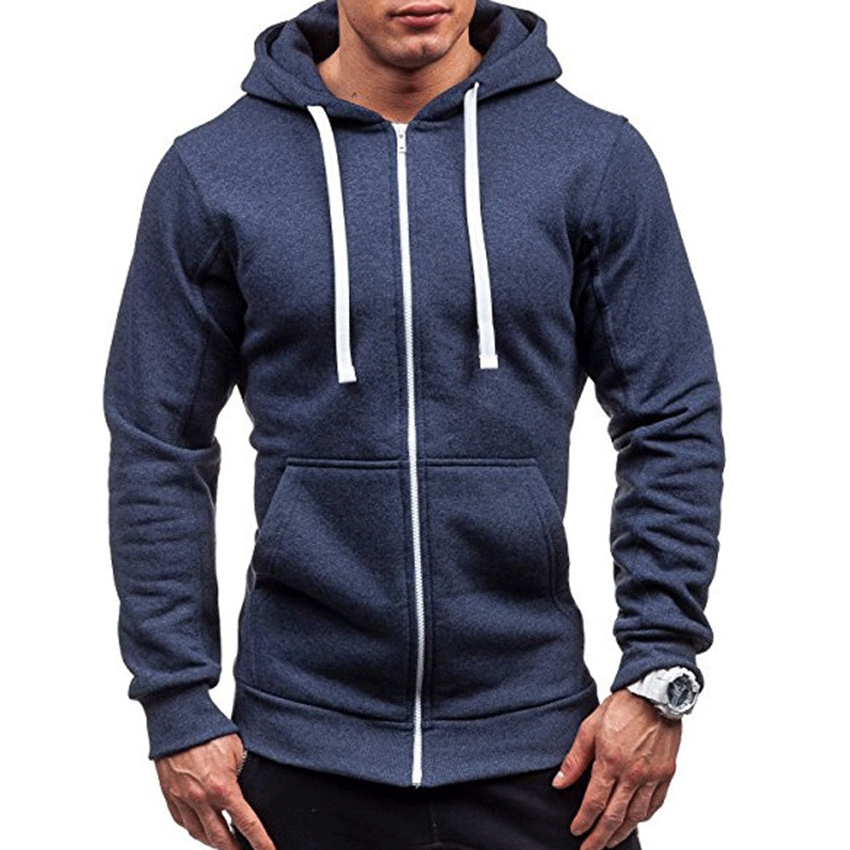Men's Hoodie Male Cardigan Long Sleeve Hoodies Men Zipper Sweatshirt Hoodies Mens Hooded Fashion Coat Jacket Jumper Clothes Men