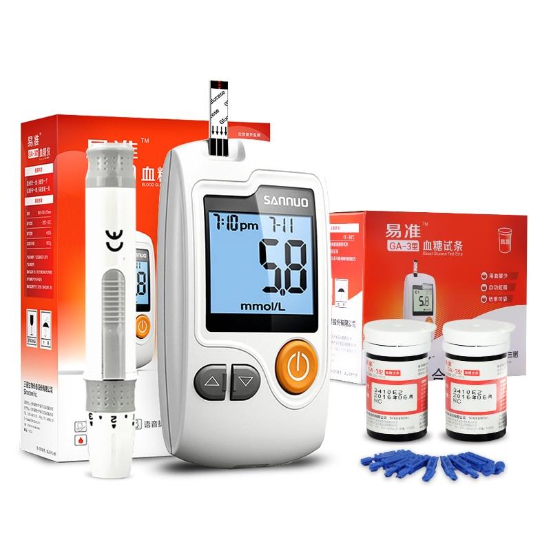 Sannuo Yizhun GA-3 Қан глюкозасы Глюкометер 50 - Денсаулық сақтау - фото 6