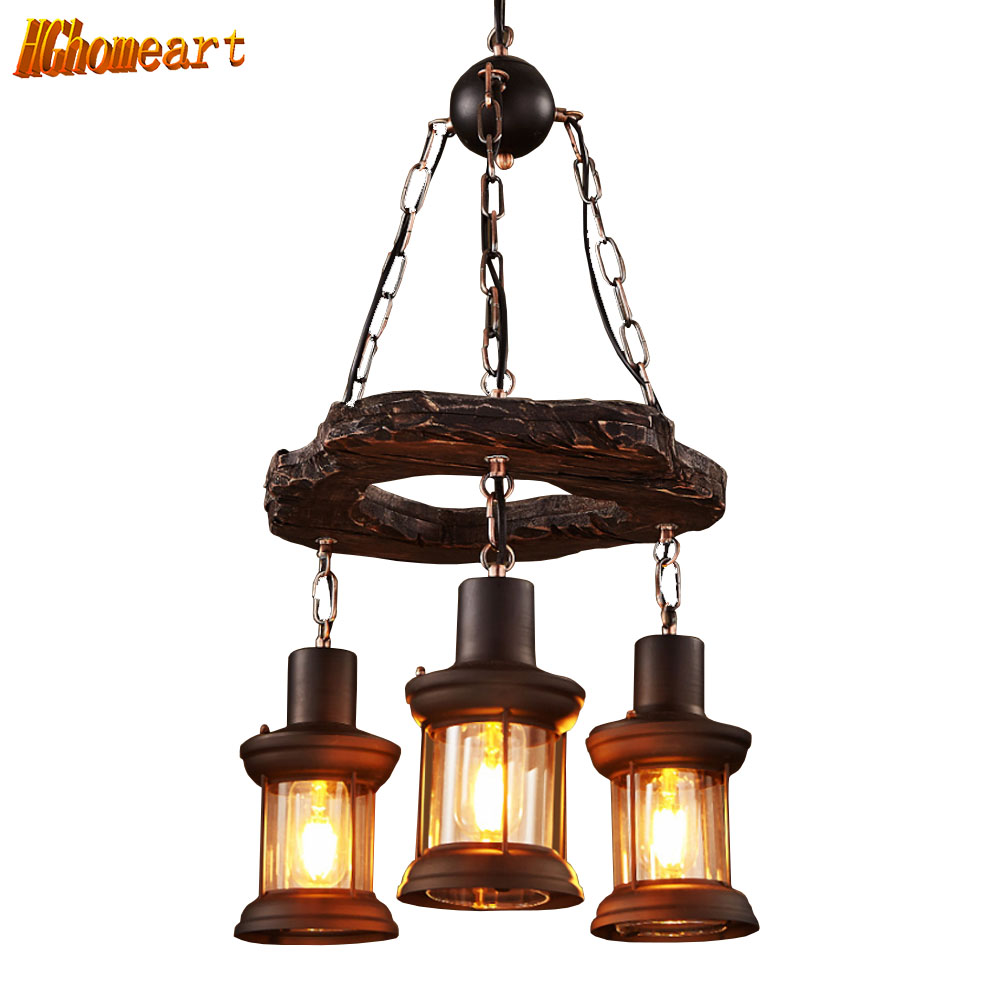 HGHomeartClassic Luxury Retro Led Chandelier for The Bedroom Loft ...