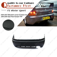Car Accessories FRP Fiber Rear Bumper Fit For 2004 2007 Evolution 8 9 8 9 JDM OEM Style Rear Bumper with Diffuser