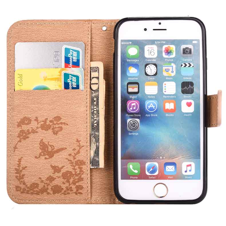 US $6 67 11% OFF|For iPhone 6 S Plus Bling Rhinestone Case for iPhone X 10  XR XS 10S Max Leather Case for iPhone 7 8 SE 5 5S Flip Cover 6S Case-in